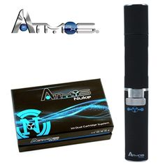 Atmos Nuke Dual Cartridge Vaporizer Atmos Nuke Dual Cartridge Vaporizer. This amazing vaporizer has a special dual cartridge system which allows you to control, mix, and vape your choice of two different flavors into one amazing taste! For oils and liquids