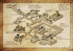 Cool dungeon map by Djekspek at deviantart.com