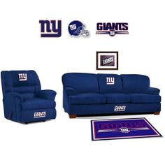 [[start Tab]] Description The New York Giants NFL All Star Fan Cave Set Is  Made Especially For The Big And Tall Fan. It Includes The Big Daddy Rocker  ...