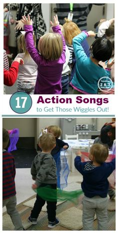 Music for Energetic Kids- 17 songs for toddlers and preschoolers that get them moving! Teaching 2 and 3 Year Olds
