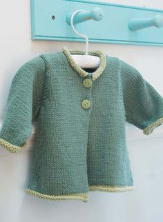 Free knitting pattern for baby cardigan jacket - #ad Gwen in Debbie Bliss…