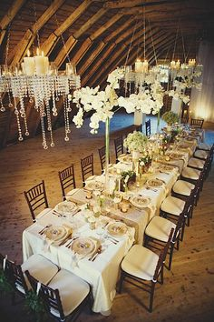 Rustic Glamour Wedding reception table ideas