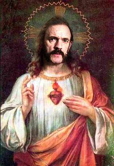 "Lemmy Kilmister - ""thou must turnst thy amps upto 11, that is the law!"" :-)"