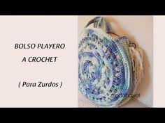 YouTube Crochet Handbags, Crochet Bags, Craft Bags, Make It Yourself, Crafts, Crocheting, Baskets, Youtube, Crochet Wallet