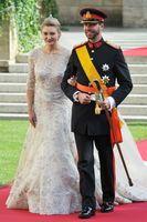 Stephanie di Lussemburgo in abito da sposa