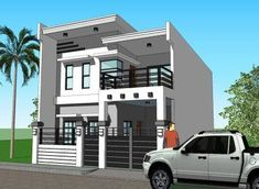 House Plan Signed and Sealed and Ready to Use for New House Construction, Building Permit or Housing Loan Requirement Two Story House Design, Modern Small House Design, 2 Storey House Design, House Front Design, Modern Zen House, Small Modern Home, Modern Houses, Modern House Floor Plans, Small House Plans