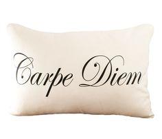 """Carpe Diem Cushion Cover - """"Seize the Day!"""""""