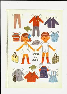 jodie and john* 1500 free paper dolls at Arielle Gabriel's International Paper Doll Society for other paper doll Pinterest pals...*