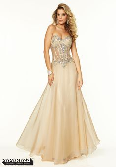 Prom Dresses   Gowns Style 97119  Chiffon with Jeweled Beading Available at  Brandi s Bridal Galleria 6ad9b93ef8bf