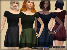 Dress Velvet Top at Bukovka via Sims 4 Updates