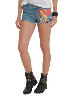 Disney The Little Mermaid Ariel Denim Cut-Off Shorts | Hot Topic