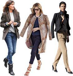 French understated chic. From left: Vogue Paris's Emmanuelle Alt; French Vanity Fair's Virginie Mouzat; Interview's Ludivine Poiblanc.