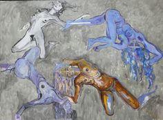 A Dança  Tinta no Papel 190 x 140 Woman Art, Female Art, Moose Art, Animals, Women, Contemporary Art, Art Production, Ceramic Sculptures, Paper