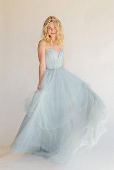 LoLoBu - Women look, Fashion and Style Ideas and Inspiration, Dress and Skirt Look Blue Wedding Dresses, Wedding Attire, Blue Dresses, Wedding Gowns, Bridesmaid Dresses, Aqua Wedding, Blue Bridesmaids, Tulle Wedding, Bleu Pastel