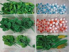 Master class Handicraft product Quilling Paper Leaves mini MK band photo 15
