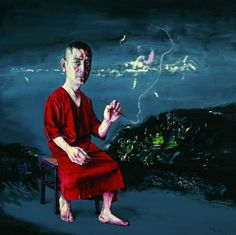 Zeng Fanzhi (Chinese, b. 1964), Self-portrait, 09-8-1, 2009. Oil on canvas, 200 x 200 cm.    via ce-sac-contient