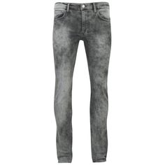 Religion Men's Skinny Jeans - Ice Wash (100 CAD) ❤ liked on Polyvore featuring men's fashion, men's clothing, men's jeans and grey