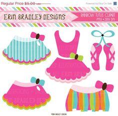 Rainbow Ballerina Tutus Clipart