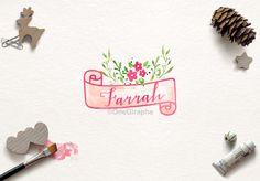Watercolor Logo, Logo Design, Graphic Design, Cheap Christmas, Christmas Photography, Creative Photography, Etsy Seller, Feminine, Behance