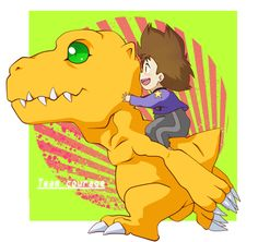 Team Courage ~ Taichi and Agumon by NPC-Dion.deviantart.com on @deviantART
