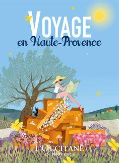Charlotte Gastaut passe le week end en Haute-Provence avec L'Occitane.