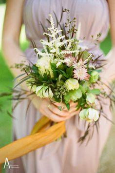 Mauve and copper bridesmaid bouquet