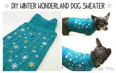 DIY WINTER WONDERLAND DOG SWEATER