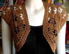 bolero crochet pattern - now, if only I could figure out what the heck I'd need to do ;.; to Lorraine!