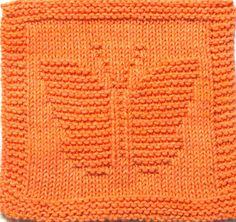 Knitting Cloth Pattern BUTTERFLY PDF Instant by ezcareknits