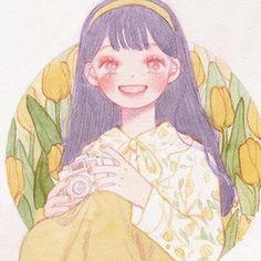 Tình yêu đến nhẹ nhàng như nụ cười của em Cute Illustration, Character Illustration, Pretty Art, Cute Art, Cartoon Drawings, Cute Drawings, Sketch Painting, Korean Artist, Aesthetic Art