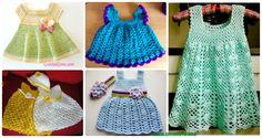 A Collection of Crochet Girls Dress Free Patterns: Crochet Spring Dress & Summer Dress for Girls, Babies, Flower Dress, Sweater Dress etc