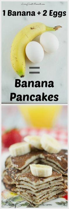 These 2 Ingredient Banana Pancakes are so easy to make! All you need is 2 eggs a… These 2 Ingredient Banana Pancakes are so easy to make! All you need is 2 eggs and a banana in a blender! They are gluten free and so delicious. Baby Food Recipes, Gluten Free Recipes, Low Carb Recipes, Cooking Recipes, Healthy Recipes, Diet Recipes, Chicken Recipes, Celiac Recipes, Snacks