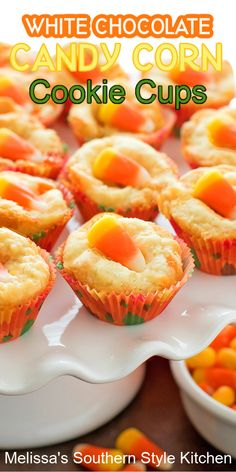 Halloween Food For Party, Halloween Cookies, Fall Baking, Holiday Baking, Fall Recipes, Holiday Recipes, Candy Corn Cookies, Cookie Recipes, Dessert Recipes