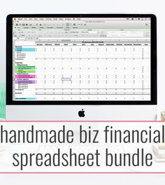 Handmade Biz Financial Spreadsheet  - a Discounted Bundle for bookkeeping, pricing, and inventory tracking - by Paper + Spark