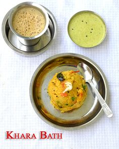 Khara bath is the most popular Breakfast recipe in Karnataka.Kharabath is nothing but Semolina/Sooji/Upma Rava cooked in lots of ghee and...