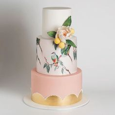 26 Watercolor Wedding Cakes That Will Take Your Breath Away - Watercolor Cake Is the Dreamiest New Wedding Trend Beautiful Wedding Cakes, Gorgeous Cakes, Pretty Cakes, Amazing Cakes, Whimsical Wedding, Bird Cakes, Cupcake Cakes, Flower Cakes, Shoe Cakes