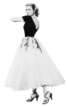 """I have always adored Grace Kelly's style.  Her fashion is absolutely timeless.  This is the fabulous dress she wore in the Alfred Hitchcock classic """"Rear Window"""" and is my personal favorite of her many gorgeous outfits.  If I ever get nominated for a Tony (or an Oscar--I'm flexible), I am having a designer duplicate this dress for me to wear to the ceremony!"""
