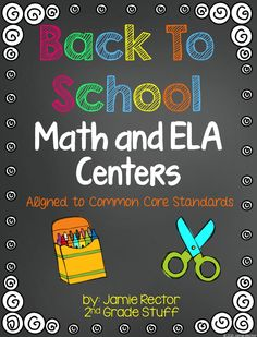 ** Black/White Printer-Friendly Version Included **  This collection of centers is perfect for 2nd graders to review 1st grade skills in the first few weeks of school!