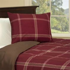 Main Street Parker Comforter Mini Set - Plaid_Red Twin - Twin by Main Street. $39.99. For an easy update to your bedroom's esthetic, the Parker comforter mini set is a simple solution. This red comforter and shams are made from printed polyester softspun allowing the top of your bed to feel as soft and cozy as the inside. The comforter and sham feature an ivory plaid pattern on the top and chocolate brown colored reverse while the inside is filled with 6D fiberfill for a plu...