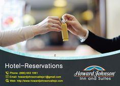 Howard Johnson Inn & Suites are providing reservation facility. Choose your own favorite room and enjoy. https://goo.gl/CkJSL7