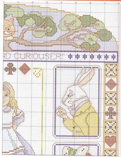 Gráficos ponto cruz da drica: Alice no país da maravilhas para bordar