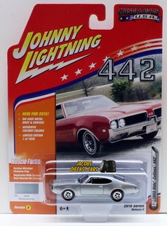1:64 JOHNNY LIGHTNING 2016 MUSCLE CARS USA 1969 OLDS CUTLASS 442- Platinum Poly #JohnnyLightning #Oldsmobile