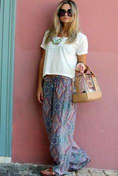 palazzo pants. Friggin comfort... ill never phase outta my palazzo pants phase :)