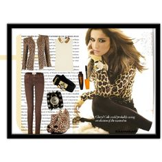 Cheryl Cole opts for leopard print!, created by hannahant on Polyvore