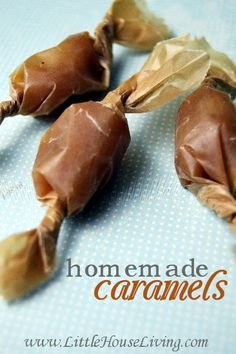 Easy Homemade Caramels Recipe - Little House Living (no corn syrup!)