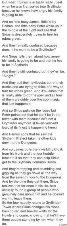 This is cute. Although, the robes were all black and had the hogwarts crest on them. He wouldn't have actually had to change any colors. The books don't even mention house specific scarves or ties, that was just in the movies.