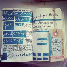 A page for good thoughts in my wreck this journal