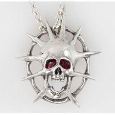 Halskette mit Anhänger ALCHEMY GOTHIC - Skull, ALCHEMY GOTHIC