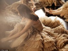 Grand production: This is the fashion houses' first-ever big festive ad campaign and stars beautiful tulle evening dresses like the ones worn on the red carpet by Suki Waterhouse