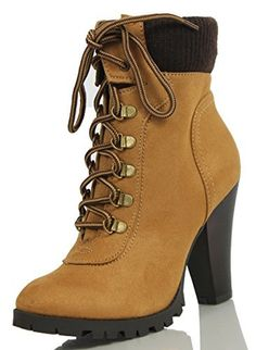 Soda Women's Rouge Faux Suede Lace Up Combat Chic Work Boot High Heel Ankle Bootie, http://www.amazon.com/dp/B01532F2T8/ref=cm_sw_r_pi_awdm_kdChwb0GFKWPK